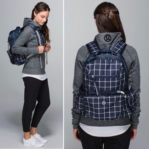 Lululemon Back to Class Backpack Pacfic Check